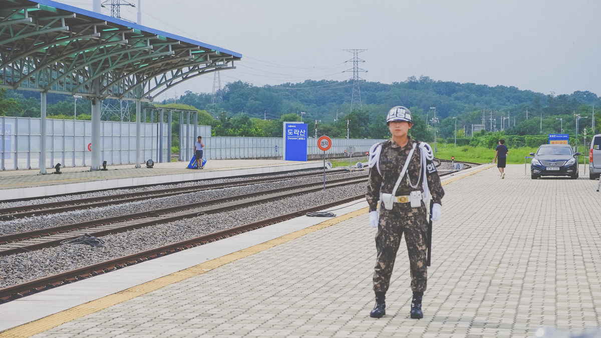 Dorasan Station South Korean Soldier