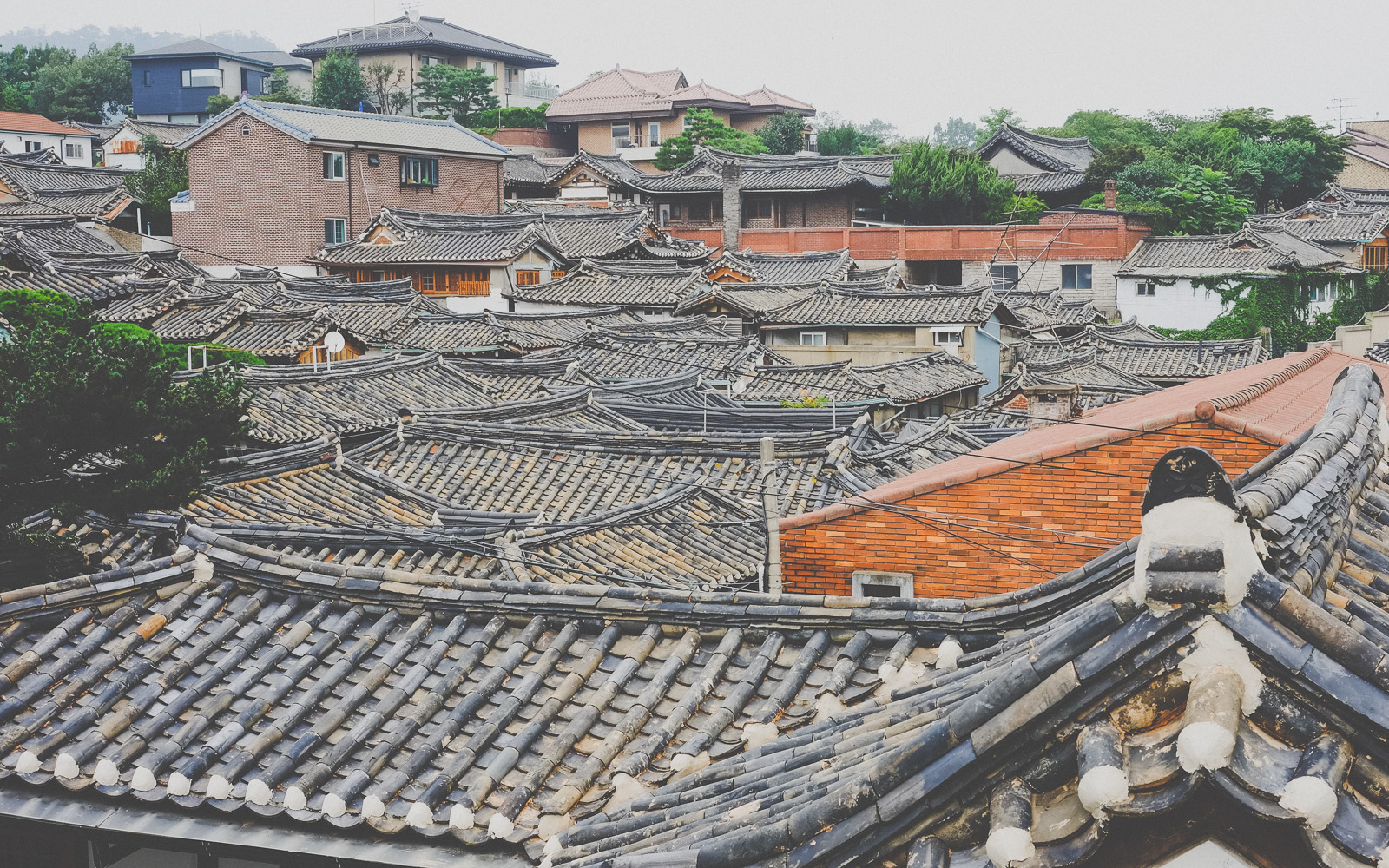 Bukchon Village rooftops, South Korea